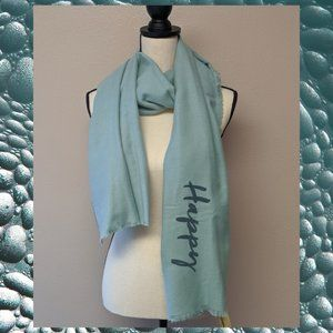 COLLECTION XIIX GREEN 'HUMPLE HAPPY' Wrap Scarf